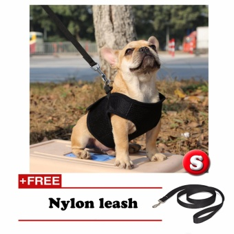 New Comfy Pet Mesh All Seasons Harness (Black – Small) with Free Nylon Leash Price Philippines