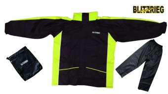 Blitzkrieg® MJ-Series MJ-08 Motorcycle Ultra Durable RainCoat & Jacket Set With Pants Touring (Neon Green) Price Philippines