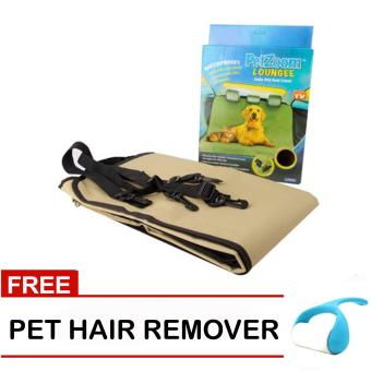 Pet Zoom Loungee Auto Pet Seat Cover (Tan) with Free Pet Hair Remover Price Philippines