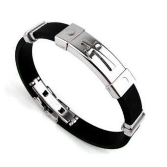 New 2017 Hong Kong Jewelry Design Cross Jewelry Unisex Bracelet Stainless Steel Silicone Accessories (Silver) Price Philippines