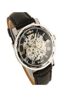 Skeleton Mechanical Watches Stainless Steel Black - Intl Price Philippines