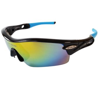 Harga Fury Rivbos 0805 Multi Lens Sports Sunglasses (Black / Blue)