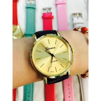 Geneva Gold Face Classic Eva Wrist Watch (Black) Price Philippines