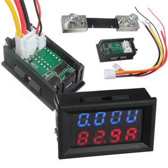 100V 100A DC Car Auto Digital Voltmeter Ammeter LED Amp Volt Meter 12V w/shunt Price Philippines