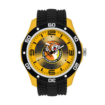 Harga UniSilver TIME UAAP UNIVERSITY OF SANTO TOMAS Growling Tigers Unisex Yellow/Black Rubber Watch KW2174-1001