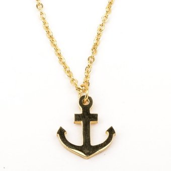 Anchor Pendant Stainless Steel Necklace- Gold Price Philippines