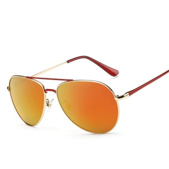 Harga Brand Design Luxury Fashion Polarized Sunglasses Men Rhinestone Decoration Sun Glasses Polaroid Lens UV400 (Orange) - Intl