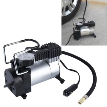 Air Compressor With Pressure Gauge And Three Nozzle Adapters, Portable Metal Cylinder Tire Inflator Compressor For Cars Vans Air Mattress Balls 150 PSI 35L/min Maximum Voltage DC 12V Maximum Amperage Draw 14A - intl Price Philippines