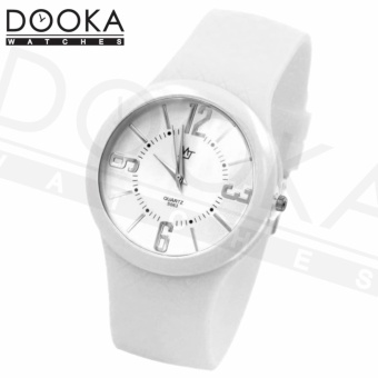 MJ Women's White Thin Silicone Rubber Strap Watch S063 Price Philippines