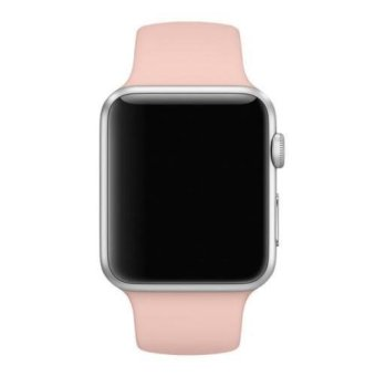 Sport Silicone Bracelet Strap Band For Apple Watch iwatch 38mm (Pink) (Intl) Price Philippines