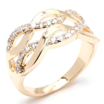 Glamorosa Double Infinity Ring (Gold) Price Philippines