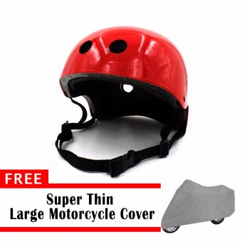Harga Motor Craze Passenger Motorcycle Helmet with free Super Thin Large Motorcycle Cover (Red)