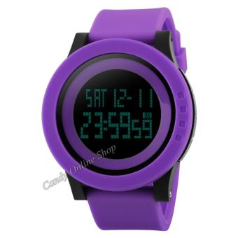 Candy Online Men and Women Digital Electronic Waterproof LED Sport Watch(Purple) Price Philippines