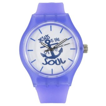 Pic Watch Jesus Is The Anchor of My Soul Purple Silicone Strap Watch Price Philippines