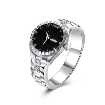 Fashion Watch Shaped Ring Silver Plated Ring Price Philippines