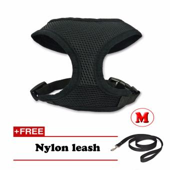 New Comfy Pet Mesh Harness (Black – Medium) with Free Nylon Leash Price Philippines