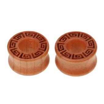 MagiDeal Pair Vintage Natural Wood Ear Gauges Flesh Tunnels Flared Ear Plugs 22mm - intl Price Philippines