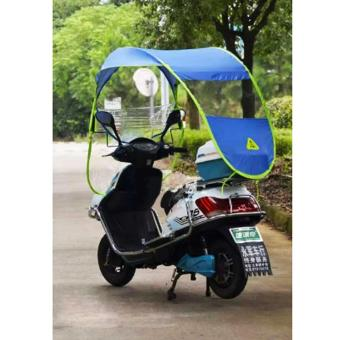 Harga Motor Craze Road Runner Motorcycle Canopy Cover /Umbrella Roof Cover (Blue)