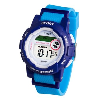 XINJIA Water Resistant Sports Digital Wrist Watch 867 Blue Price Philippines