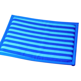 Harga Pet Summer Striped Mat Dog Cooling Cat Pad Breathable Cushion(Blue, XL)