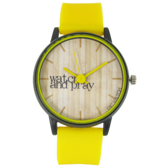 PIC Watch Watch and Pray Yellow Silicone Strap Watch Price Philippines