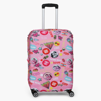 Harga Travel Basic Team Real Large Luggage Cove (Pink Pins)
