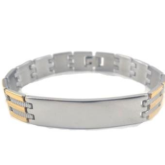 Piedras italian inpired stainless steel two tone Bracelet (Silver,Gold) Price Philippines