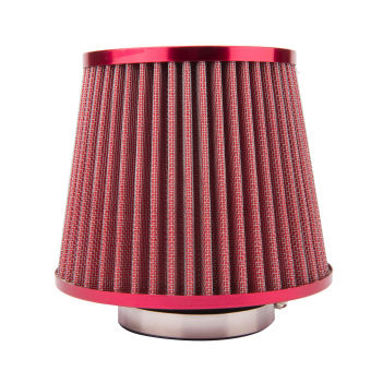 Harga 76mm Auto Car Air Filter Cold Air Intake Filter Cleaner Dual Funnel Adapter YA027