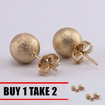 Harga Glamorosa Celestial Ball Stud Earrings (Gold) Buy 1 Take 2