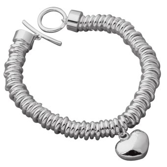 Harga Sterling Bracelet Band Women jewelry treasure Silver- Intl