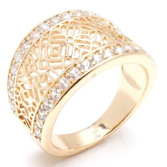 Harga Glamorosa Queen Crown Ring (Gold)