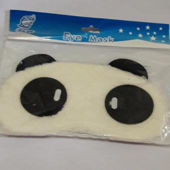 Harga Eye Mask with Cute fur Panda (White)