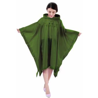 Harga Rain Drops Poncho Raincoat Forest Green