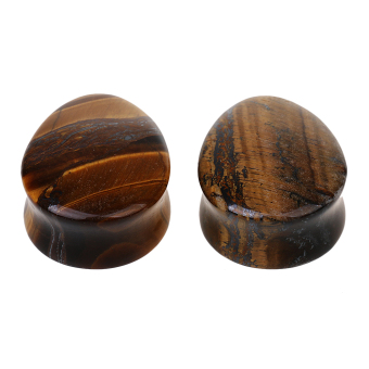 MagiDeal 1 Pair Ear Plug Body Jewelry 25mm Tigers eye Price Philippines