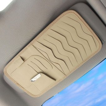 Harga Auto Car CD / DVD Sun Visor Storage CD Holder Organiser - holds 8 CD/DVD discs (Cream) - intl
