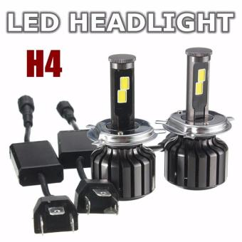 Harga H4 Hi/Lo 120W 10000LM CREE LED Headlight Kit Hi/Lo Beam Bulbs 6000K - intl