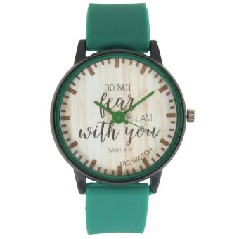 PIC Watch Do Not Fear For I Am With You Green Silicone Strap Watch Price Philippines
