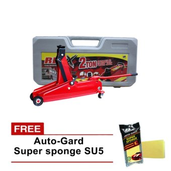 Harga NFSC - Red X Hydraulic Floor Jack 2 Tons With Auto-Gard Super Sponge