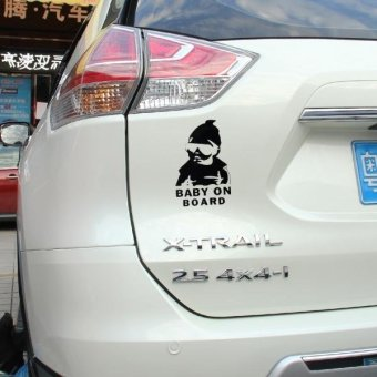Baby On Board Pattern Vinyl Car Sticker, Size: 20cm X 13cm(Black) - intl Price Philippines