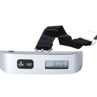 Harga 50 kg110lb Portable Electronic Luggage Scale (Sliver)