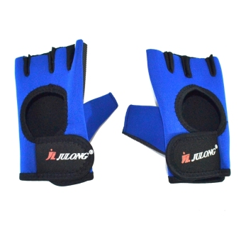 Harga Julong MT-764 Fitness Gloves (Blue/Black)for bicycle motorcycle sport Fitness