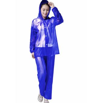 Harga Rain Drops Suite Raincoat Sea Blue
