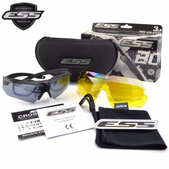 Harga ESS Eyewear Cross Series Crossbow 3LS (3 Lens System) Kit with Interchangeable Lenses and Hard Case
