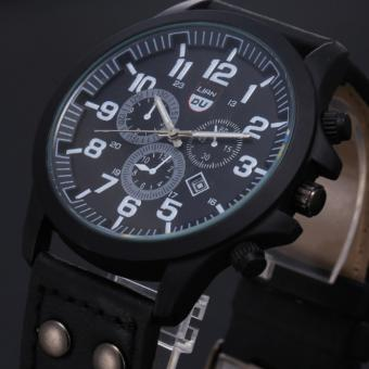 Liandu Men's Military Outdoor Sport Chronograph Style Aviator Leather Strap Price Philippines