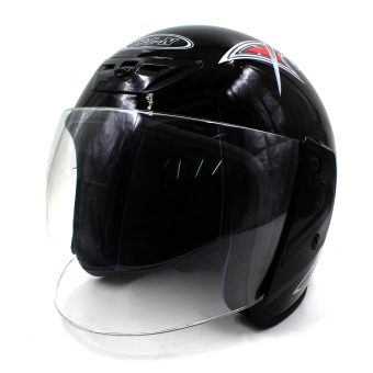 Harga Motor Craze 518 Printed Rounded Open Face Motorcycle Helmet (Black)