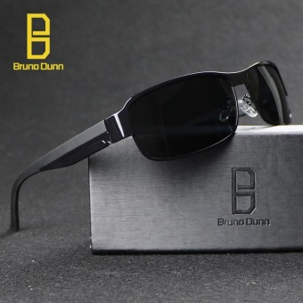 Harga POLARIZED Sunglasses Men Classic Brand Designer Sun Glasses Men Driving Polaroid Points Frame 8485 (black frame grey lense) - intl