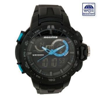 Harga Mossimo Gino Unisex Black Rubber Strap Digital Watch MS-1703G-BLU