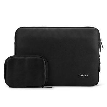 Harga POFOKO PU Leather 13.3 Inch Laptop Sleeve Bag Case Cover for Apple New Macbook, Black (Intl)