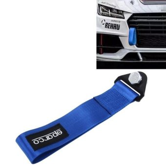 Sparco Universal Front Rear Racing Car Tow Towing Strap Bumper Hook Up To 10000 LBS(4.5T)(Blue) - intl Price Philippines