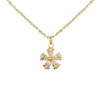 Harga Bling Bling Keira Flower Necklace (Gold)